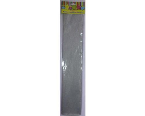 Бумага крепированная 28597 серебро