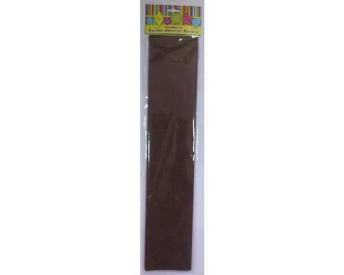 Бумага крепированная 28591 коричневая