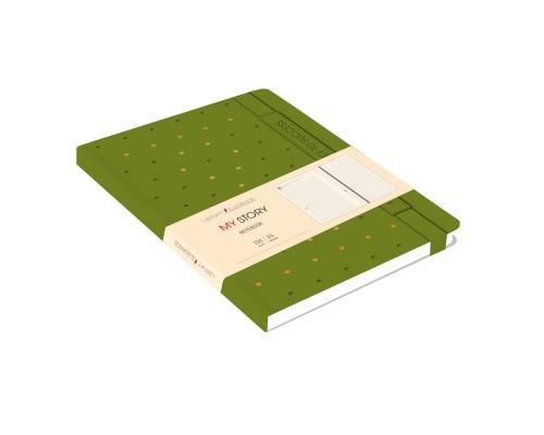 Ежедневник (недатированный) А5 104 листа искусственная кожа MY STORY Зеленый