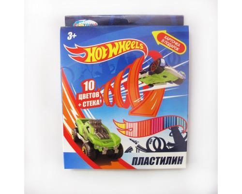 """Пластилин 10 цветов """"Hot Wheels"""""""