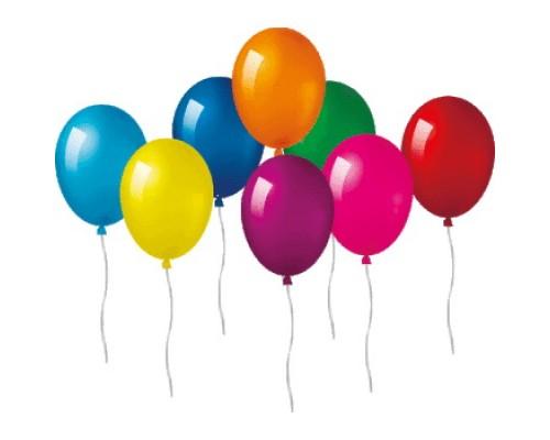 Воздушные шары 25см.deVENTE стандартные цвета ассорти 1шт.