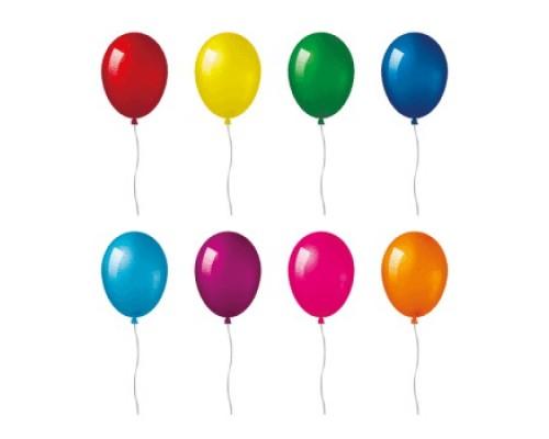 Воздушные шары 25см.deVENTE перламутровые цвета ассорти 1шт.