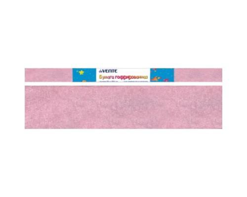 Бумага крепированная deVENTE 22 г/м, 50x250см., светло-розовая перламутровая