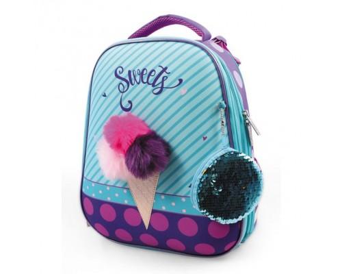 Рюкзак ERGONOMIC Classic Ice cream для девочки, начальная школа