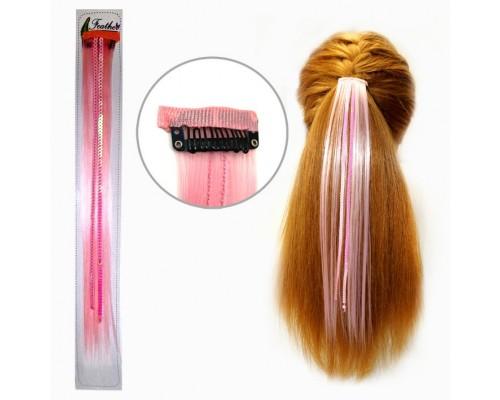 Заколка для волос Розовая прядь волос, длина 32 см.