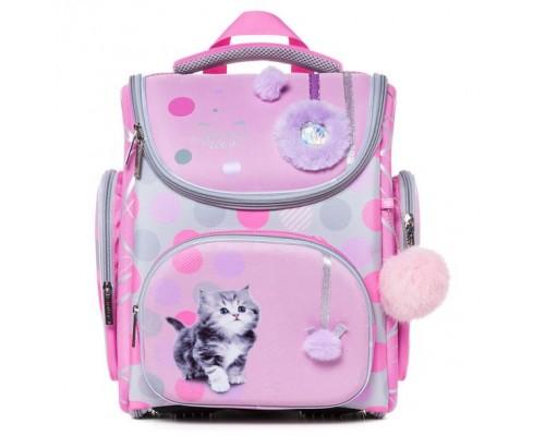 Рюкзак COMPACT PLUS Милый котенок для девочки, начальная школа