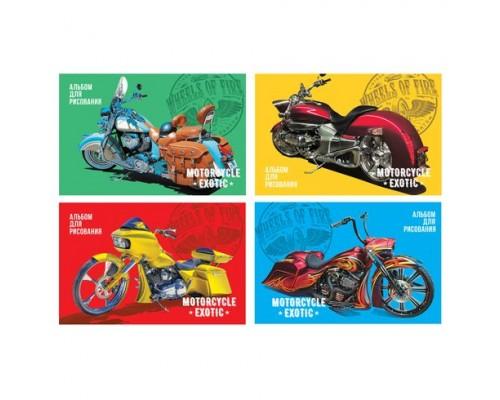 Альбом для рисования 12 листов Moto exotic (ассорти)