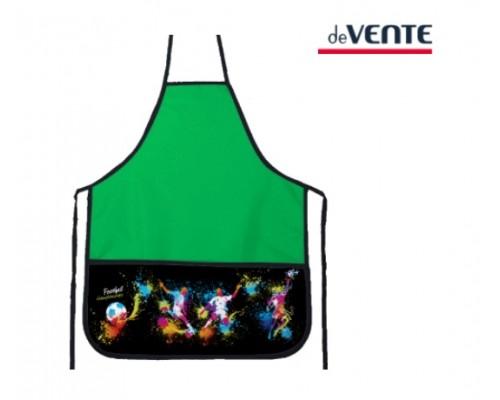 Фартук deVENTE. Football 45x54 см (M), 3 кармана с рисунком, зеленый для мальчика